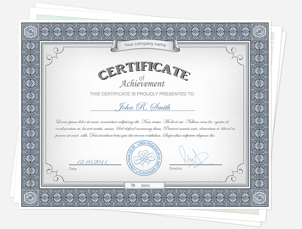 Award Certificate and Gift Certificate Design and Printing Services