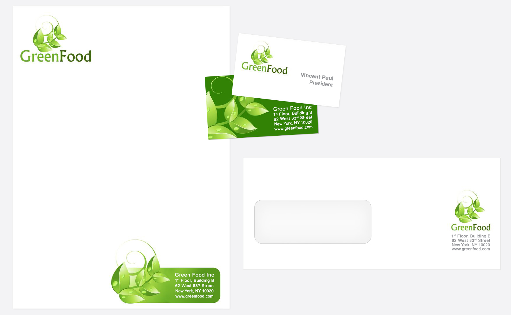 Custom Letterhead, Business Cards and Envelopes to promote your company in style