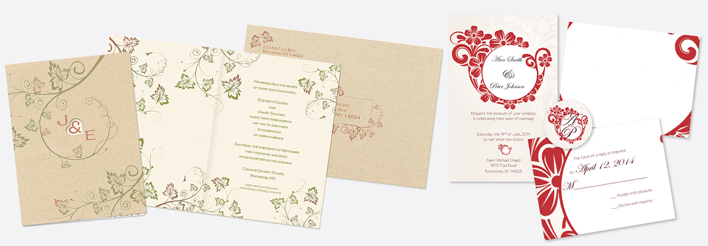 Wedding or event invitation design and printing